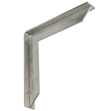Federal Brace 34432 Streamline Countertop Bracket - 8 x 8 - Stainless Steel
