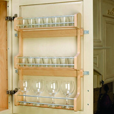Rev-A-Shelf 4SR-21 Door Mount Spice Rack - Wood - Maple