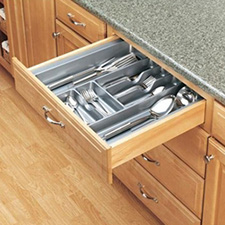 Rev-A-Shelf GCT-4S-52 Cut to Size Cutlery Tray - X-Large - Glossy Silver