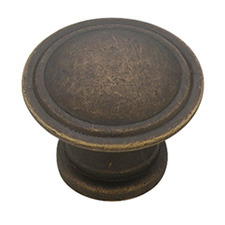 Liberty Hardware PN0408-OB-C Modern Cable Collection 30mm Ridge Knob Distressed Oil Rubbed Bronze
