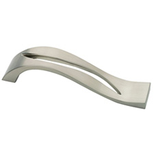 Liberty Hardware P01321-SN-C Palladium Collection 128mm Curved Cutout Pull Satin Nickel