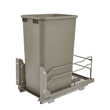 Rev A Shelf 53WC-1550SCDM-112 50 Quart Pullout Waste Container Soft-Close - Champagne