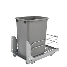 Rev-A-Shelf - 53WC-1535SCDM-117 - 35 Quart Pullout Waste Container Soft-Close - Silver
