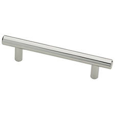 Liberty Hardware P01012-PC-C 96mm Steel Bar Pull Polished Chrome