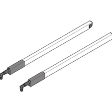 Blum ZRG.437RSIC TANDEMBOX Longside Gallery Rail (Upper) for High Fronted Pull-out Nominal Length = 500mm Left/Right for TANDEMBOX Antaro - White