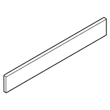 Blum Z37A517C Design Element - Side Height C Nominal Length 550mm Aluminum for TANDEMBOX Antaro - White