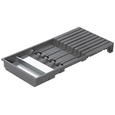 Blum ZC7M0200 AMBIA-LINE Legrabox Knife Holder for 4 Large and 5 Small Knives - Width 186mm - Orion Grey