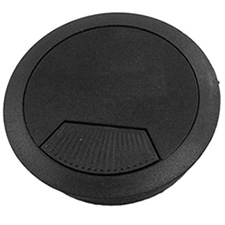 60mm Black Plastic Grommet with Spring