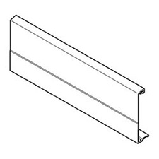 Blum Z31A1081A Front Section for Inner Drawer - Height M - Grey - Cut to Size