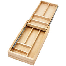 Rev-A-Shelf 4WTCD-15SC-1 2-Tier Double Cutlery Drawer Insert for 15-Inch Soft Close