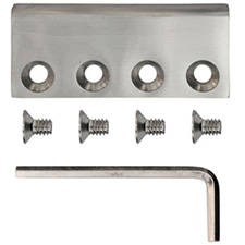 Knape & Vogt SS-FR-C Flat Rail Barn Door Accessory - Flat Rail Connector - Stainless Steel