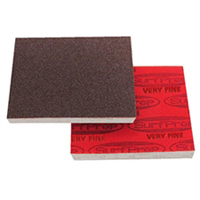 SurfPrep SPRF10R150 Red Aluminum Oxyde Foam Abrasive Pads - Very Fine - 320 to 380 Grit - Box of 25
