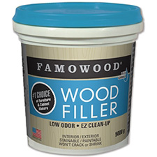 Famowood Latex Wood Filler - Natural - 1 gallon (3.78L)