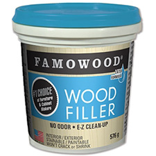 Famowood Latex Wood Filler - Golden Oak - 1 Pint (473mL)
