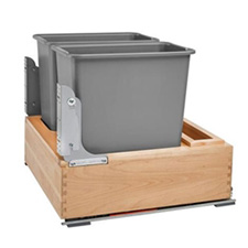 2X30QT WASTE CONTAINER W/SOFT CLOSE