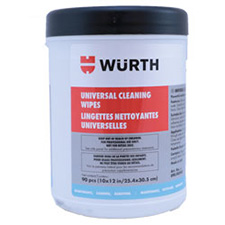 Wurth 0890900900083 Universal Cleaning Wipes - 90 pieces