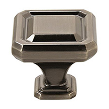 "Amerock BP36547GM Wells Collection Square Knob – 1 1/2"" - 38mm – Gunmetal"