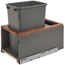 Rev-A-Shelf 5LB-1535OGWN-113 Single LEGRABOX Waste Containers - 35 qt - Gray and Walnut