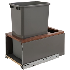 Rev-A-Shelf 5LB-1550OGWN-113 Single LEGRABOX Waste Containers - 50 qt - Gray and Walnut