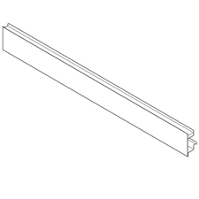 Blum ZV7.1043MN1 08063022 LEGRABOX Front Section Cut to Size (with groove for inner pull-out with design element) - White