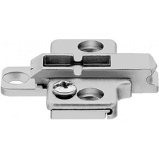 Blum 175H7100 Cruciform Mounting Plate - Spacing: 0mm - Height: 8.5 +/- 2mm - Screw-inBlum 175H7100 Plaque de Fixation Cruciforme - Écartement: 0mm - Hauteur: 8.5 +/- 2mm - À Visser