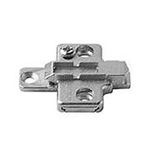 Blum 175H9100 Cruciform Mounting Plate - Spacing: 0mm - Height: 8.5mm - System ScrewsBlum 175H9100 Plaque de Fixation Cruciforme - Écartement: 0mm - Hauteur: 8.5mm - À Visser