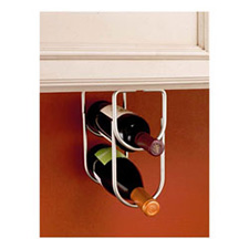 Rev-A-Shelf 3250SN Double Wine Bottle Rack for Under Cabinets - Satin NickelRev A Shelf 3250SN Support à Bouteilles de Vin Double - Nickel Satiné