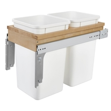 Rev-A-Shelf 4WCTM-15DM2 Double 27-QT Top Mount Pull Out Waste Container for 1-1/2