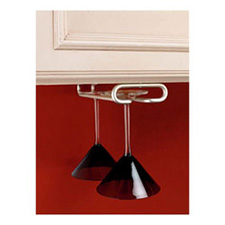 Rev-A-Shelf 3150-11SN Stemware Holder for Under Cabinets - 11-Inch - Satin NickelRev A Shelf 3150-11SN Support à Coupes en Métal - 11
