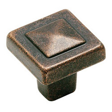 Amerock BP4429-RBZ Forgings Collection Square Knob - 1 1/8