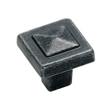 Amerock BP4429-WI Swirl'Z Collection Square Knob - 1 1/8