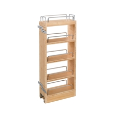 Rev A Shelf 448-WC-8C Cabinet Pullout Organizer with Wood Adjustable Shelves