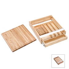 Rev A Sheld 4KCB-24 Combination Knife Holder Cutting Board - 20 1/2