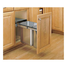 Rev-A-Shelf 8-785-30-DM2SS Double Door Mount Under Sink Waste Container - Stainless Steel