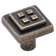 Amerock BP4454-R2 Forgings Collection Four Squares Knob - 1 1/8