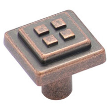 Amerock BP4454-WC Forgings Collection Four Squares Knob - 1 1/8