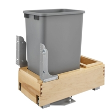 Rev-A-Shelf 4WCBM-1550DM-1 Single 50-QT Rev-A-Motion Bottom Mount Pull Out Waste Container