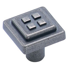 Amerock BP4454-WN Forgings Collection Four Squares Knob - 1 1/8