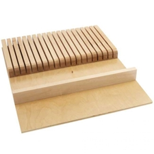 Rev-A-Shelf 4WKB-1 Cut-To-Size Insert Wood Knife Organizer for Drawers