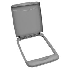 Rev-A-Shelf RV-35-LID-17-1 35-Quart Waste Container Lid Only - Metallic Silver