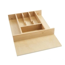 Rev A Shelf 4WCT-1 18.5-Inch Wide Cut-to-Size Wood Cutlery Organizer