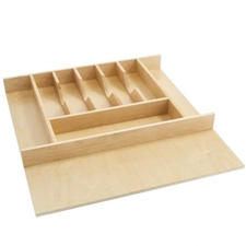 Rev A Shelf 4WCT-3 40 Trimmable Wood Cutlery Tray