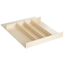 Rev-A-Shelf - 4WUT-1SH - Small Cut-To-Size Short Wood Cabinet Drawer Utility Tray InsertRev A Shelf 4WUT-1 Petit Diviseur à Ustensiles Recoupable en Bois
