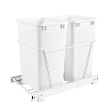 Rev-A-Shelf RV-18PB-2 S Double 35-QT Double Bottom Mount White Wire Waste Containers