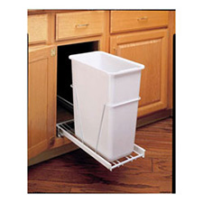Rev-A-Shelf RV9-PB S 30 Quart Single Bottom Mount Waste container With Full Extension Slides