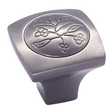Amerock BP4475-PWT Vineyard Collection New Royal Leaf Knob - 1 1/8