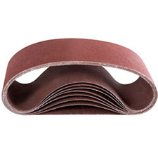 Wurth 0675100533961 Ruby Portable Belt - 100 Grit - 3x21 - Box of 10Wurth 0675100533961 Bandes Abrasives Rubis - Grain 100 - 3x21 - Boîte de 10