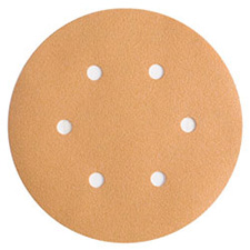 Wurth 8507333032961 Gold Sanding Discs - Hook and Loop - 320 Grit - 6