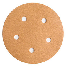 Wurth 8507372012961 Gold Sanding Discs – Hook and Loop – 120 Grit – 5
