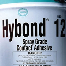Hybond 12 Spray Grade Contact Adhesive - Red